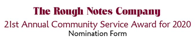 Community Service Award - Click Here